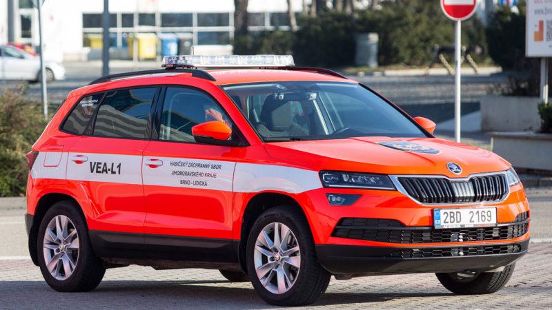 Специальный Шкода Карок будет служить в пожарной охране Брно (Чехия)