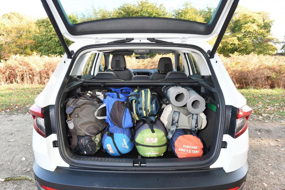 Багажник Шкода Карок – объем, размеры, удобство